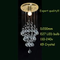 Chandelier Lights/Modern Lighting/Dining Room/K9 Crystal/Durable Base/Export Quality/Corn Design/CEILING/s# Free shipping