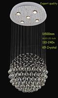 CHANDELIER CRYSTAL K9 PEDANT LIGHTS CEILING LAMP MODERN Lighting/Dining Room/Durable Base/HI-Quality/One ball Design/5 LIGHTS