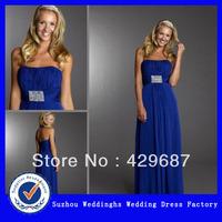 2013 Chiffon Strapless Ruched Bodice Evening Dress