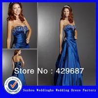 2013 New Style Satin Beaded Sweetheart Neckline Evening Dress