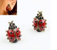 Wholesale 12pairs Fashion  Retro Ladybug Earrings