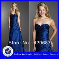 2013 New Model Satin Sweetheart Neckline A-line Evening Dress