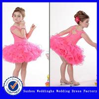Hot Sales Lovely Short Organza Pretty Flower Girl Dresses