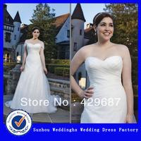 Plus Size Organza Detachable Cap Sleeve Wedding Dress