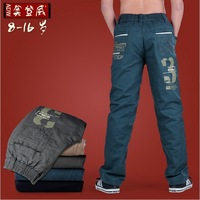 Winter trousers child children's clothing pants casual pants thick plus cotton trousers male child trousers