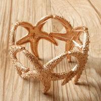 Min order $18 (Can mix item )  New fashion 2013 punk sea star bracelet free shipping