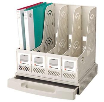 Fq3514 with drawer finishing frame multifunctional data rack file holder magazine rack bookshelf