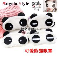 5 Pieces/lot !Cartoon Blindages Dodechedron Panda Style Sleeping Eye Mask