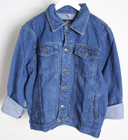 Free shipping+Vintage fashion vintage denim outerwear oversize bf top loose lovers jacket