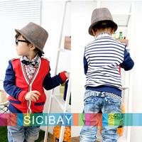 Kids Autumn Jackets Fall Boys Cardigans Baby Girls Fashion Striped V-neck Sweatshirts Children Long Sleeve Hoodies K2061