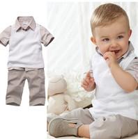BB013 Free shipping 2013 Hot sale baby clothes set Casual boys shirt+vest+pants 3 pcs suit summer kids clothing set Retail