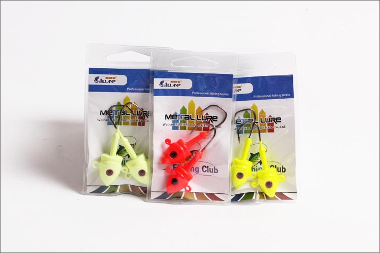 2pcs/bag five bags/lot (10pcs)free shipping New Arrival,High quality 45G metal lure jig head hook,fishing jig metal(China (Mainland))