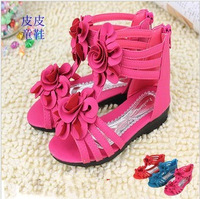 Princess gladiator sandals child female child sandals shoes sandals flower