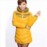 Freeshipping 2013  Women's Down Jacket Hot-Selling Slim Medium-Long Wadded Outerwear Female Cotton-Padded