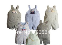 2013 Hot Sale 100% cotton unisex bib pants 2 pcs/lot