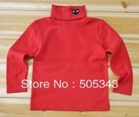 Autumn and winter children turtleneck long-sleeve shirt 100% cotton 3pcs/lot