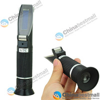 Portable Rubber handle Brix Beer Brewing refractometer RSGN-30ATC with BUILT-IN CALIBRATION KNOB Chinabestmall-Chinabestmall