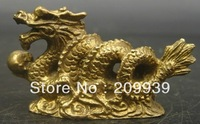 bir 00852 60 MM China Chinese Fengshui Brass Animal 12 Zodiac Year Dragon Statue