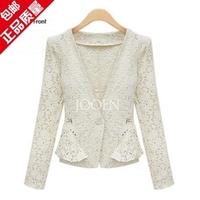 2014 new women atumn and spring fashion lace blazer V-neck long sleeve slim blazer fashion trench chaqueta femininas