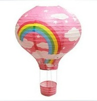 Lamps hot pink balloon 40 60cm paper lantern pendant light cover paper lamp cover lighting at home lamp cover