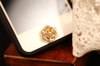 2013 New Arrival Crystal Rose Flowers 10pcs/lot Home Button Stickers for Iphone Wholesale Free Shipping 2colors mix