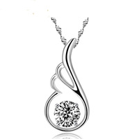 925 pure silver women's necklace women's pendant necklace gift