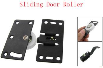 30mm Diameter White Nylon Wheel Furniture Sliding Door Roller Set 2pcs