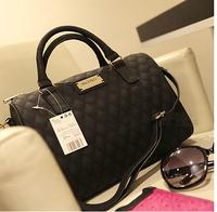 Low Price!Mango Plaid Sewing Thread Women's Handbag Bucket Bag Dimond Plaid Mng Cross-body Bag Free Shipping 2 color