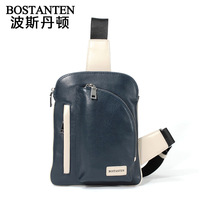 Bostanten New arrival Male chest pack casual cowhide waist pack female outdoor sports bag man bag B50010 B50014 b50015