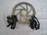Double disc bicycle disc ropegripper mountain bike bicycle brake set Winzip MADE IN TAIWAN