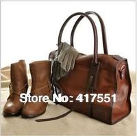 new 2014 women messenger bags,women handbag,fashion pu leather handbags,Brown vintga Tassel Totes,Free shipping