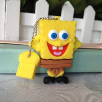 pendrive Sponge Bob gift cartoon 4gb/8gb/16gb/32gb robot flash drive Memory Stick pen drive usb flash drive Free shipping