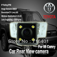 Free shipping whole sale price hot For Toyota camry reverse led hidden car camera night vision 170 degree waterproof