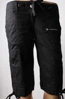 2013 New Women's Plus Size Plus Size Leisure Drawstring Zipper Design Half Pants Black/Brown CS13062202
