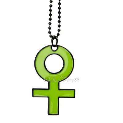 Cute Green Pendant Necklace Sweater Chain Venus Woman Female Gender Sex Symbol(China (Mainland))