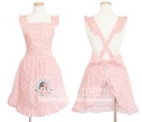 Aprons - - princess fashion pink polka dot nail art