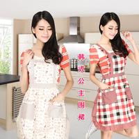 100% cotton kitchen apron fashion princess lounge double layer