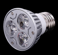 Free shipping 20pcs/lot 3W E27 LED Light Lamp Bulb Spotlight 85-265V , living room bedroom led lamp