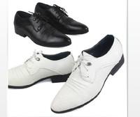 Summer British business men pointed shoes popular men's dress shoes white wedding shoes