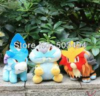 "Japanese Anime Pokemon Mini Plush Doll Stuffed Toys Entei Suicune Raikou New with tag Very Cute 3pcs/lot 18cm/7"" high quality"