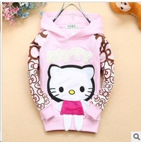 Free shipping  2014 Children's  Spring Autumn cotton Baby girls sports long-sleeved t-shirt hoodies A171