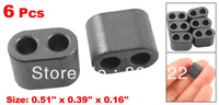 6 Pcs 13mm x 10mm x 4mm Transformer RID Type Ferrite Bead Core