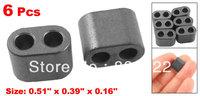 6 Pcs 13mm x 10mm x 4mm Transformer RID Type Ferrite Bead Core