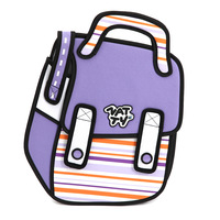 like ps picture 3d three-dimensional package cartoon bag travesty backpack shchoolbag school bag like jump out from picture
