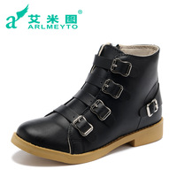 Aimy martin boots fashion shoes motorcycle boots spring and autumn single boots buckle boots
