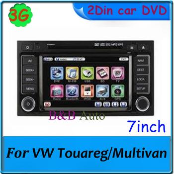 3G Car DVD GPS with IPOD BT TV Radio V-6Disc For VW Touareg car radio 7'' Car monitor pc Player