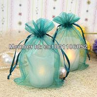 "Free Shipping--100pcs Teal Blue (4""x6"") 10*15cm Sheer Organza Bags Wedding Favor Supplies Gift/Candy Bag"