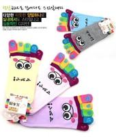 2013 New creative  cartoon five toes socks  ladies cotton socks cute and lovely socks 6colors