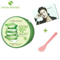 Nature republic aloe vera gel after sun repair mask cream acne printing