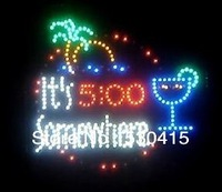 "It is 5:00 Somewhere Motion LED SIGN Classic PVC Frame,16""x16""x1.6"""